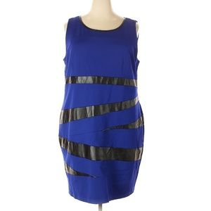 Peter Nygard Royal Blue with Black Accents Dress